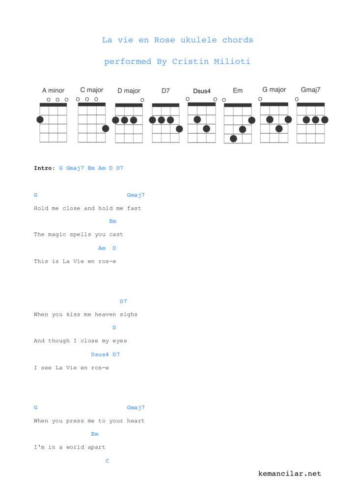 La vie en rose ukulele chords