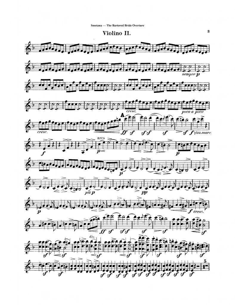 Smetana Bartered Bride Violin Excerpt