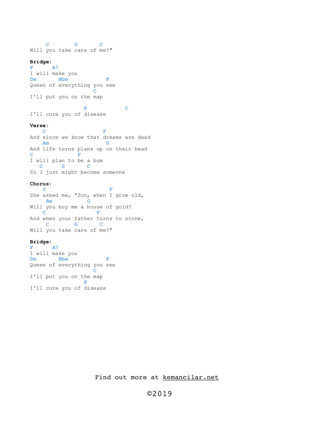 House of Gold ukulele chords | Free Sheet Music