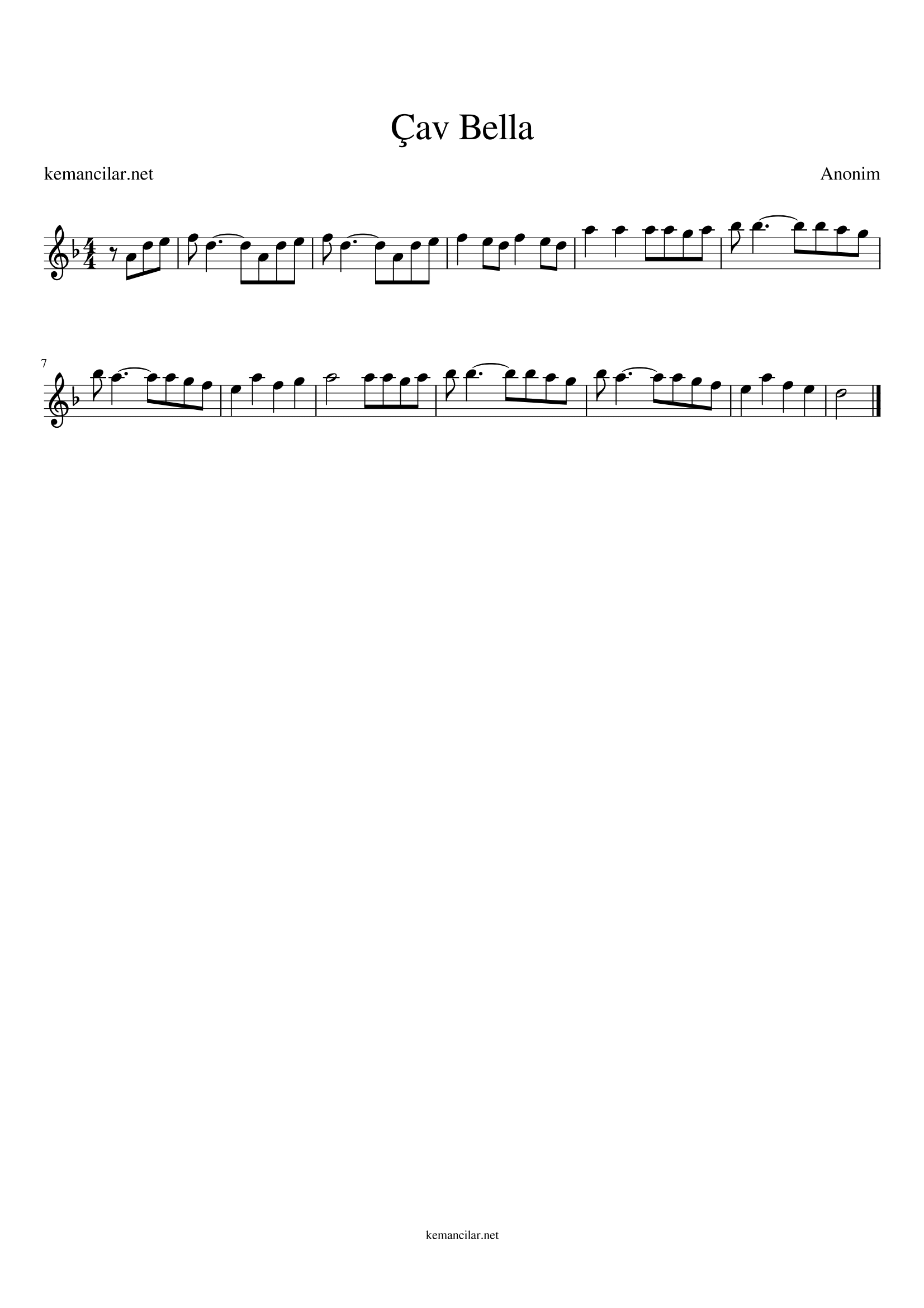 bella ciao violin sheet music